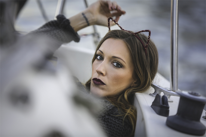 Katie Cassidy Cat Ears 1 copy