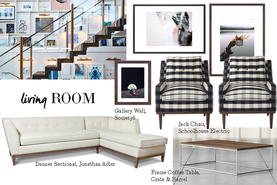 The Plan for Our Living Room\'s Giant Gallery Wall - TOMBOY KC