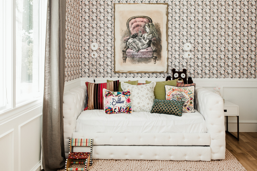 This Little Girls Room is All About the Wallpaper - TOMBOY KC